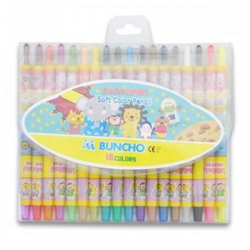 Buncho Soft Color Pencils - 18 colors