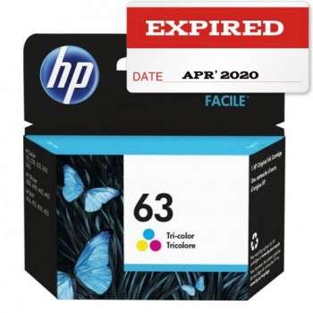 [EXPIRED on APR 2020] HP 63 Tri-color Ink Cartridge (F6U61AA)