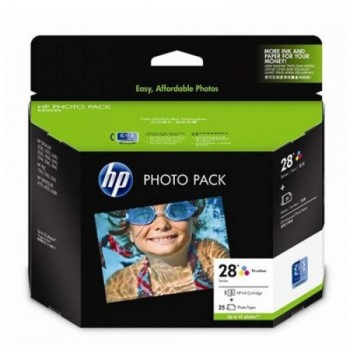 HP 28 Photo Value Pack-4 x 6 in plus tab/25 sht (Q8893AA)