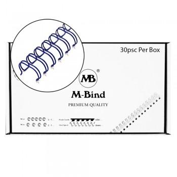 "M-Bind Double Wire Bind 2:1 A4 - 1-1/2""(38mm) X 23 Loops, 30pcs/box, Blue"
